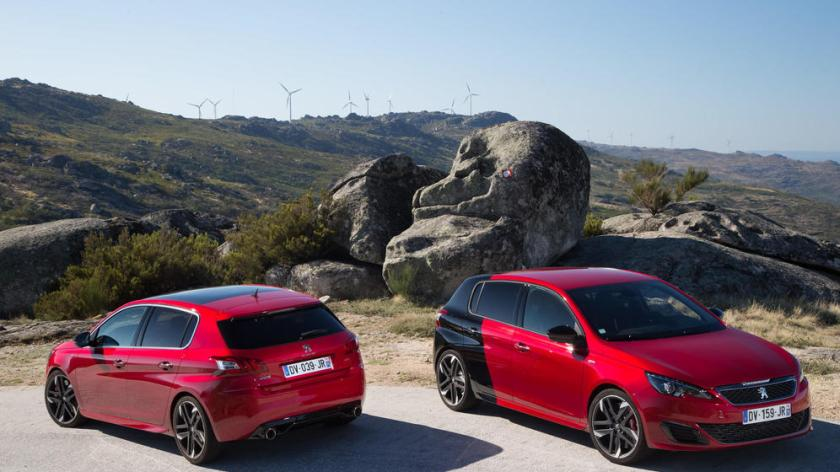 Peugeot 308 gti opción bicolor para la versión mas potente