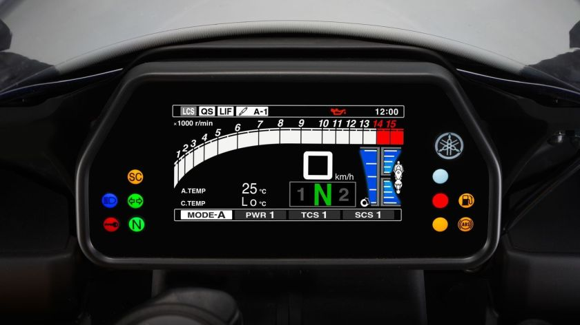 Yamaha YZF 1000 R1 2016 panel de instrumentos
