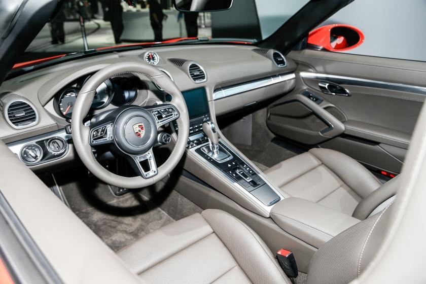 Porsche boxster 718 2016 habitáculo