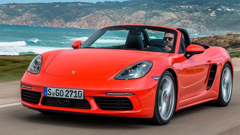 Porsche boxster 718 2016 en carretera