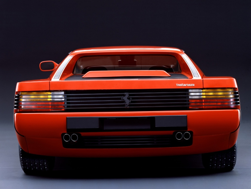 Ferrari Testarossa vista trasera