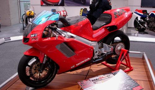 Honda nr 750 en exposición