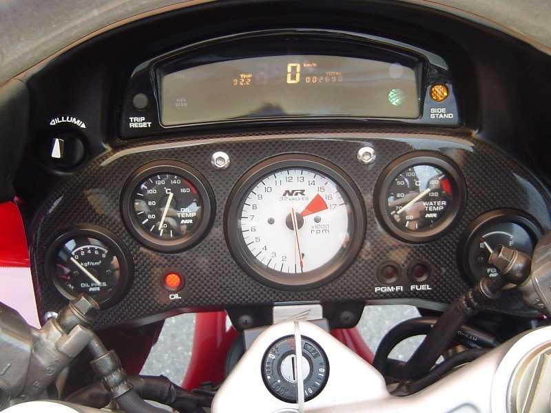 Honda nr 750 tablero de instrumentos