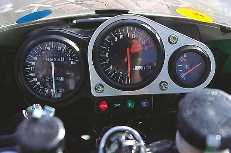 Kawasaki zx-7r cuadro de mandos