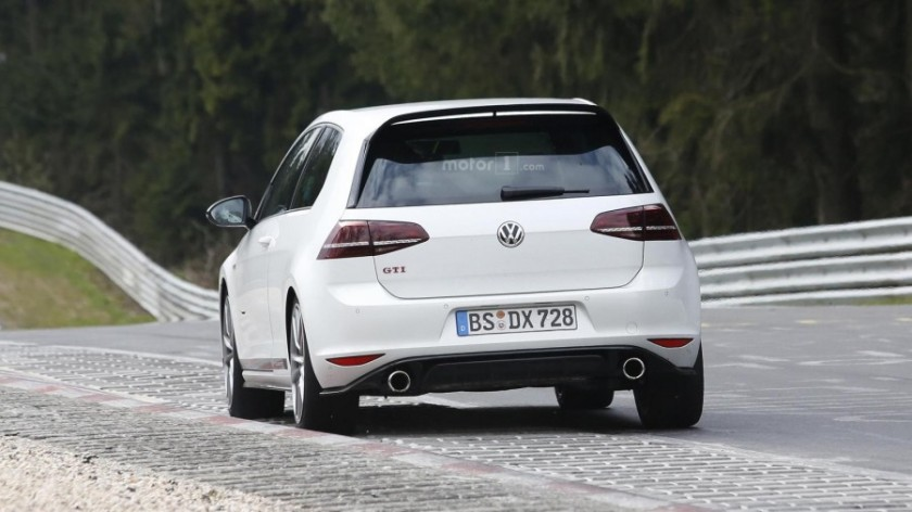 Vw golf clubsport S parte trasera