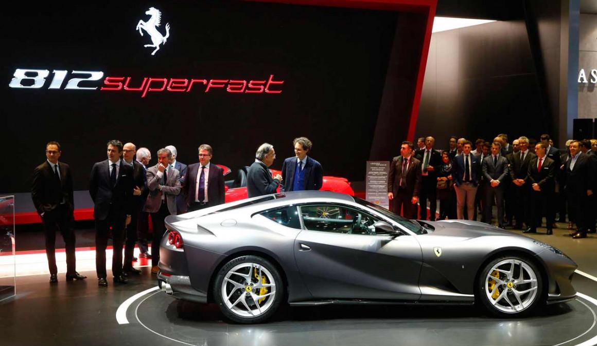 Ferrari 812 Superfast presentación Salón de Ginebra