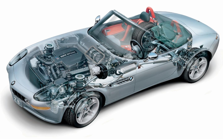 BMW Z8 vista mecánica